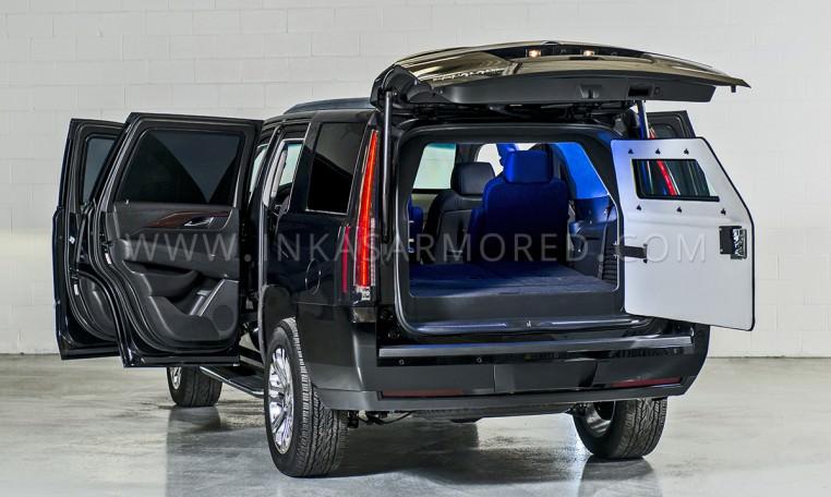 Armored Cadillac Escalade Rear Bulkhead