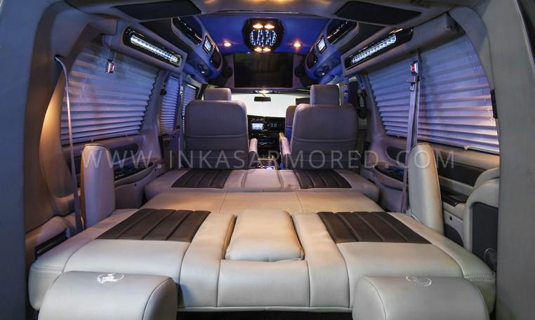 Armored GMC Van Limousine Interior Nigeria