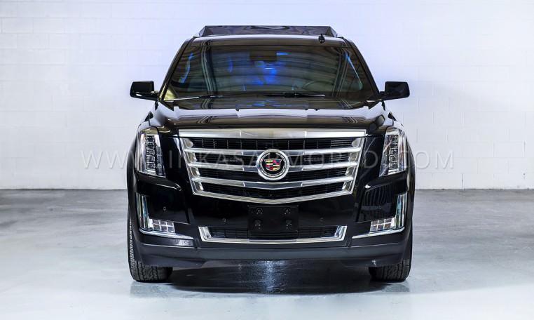 Armoured Cadillac Escalade Limo Front Nigeria
