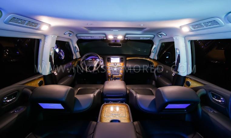 Bulletproof QX80 Interior