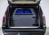 Armored Cadillac Escalade Limo Rear Bulkhead